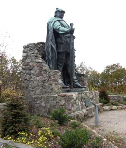 Das Bismarckdenkmal auf dem Aschberg